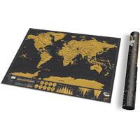 Scratch map deluxe för resor