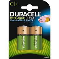 Duracell Laddbart, C2 HR14 3000 mAh, 2/fp