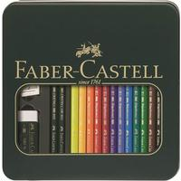 Faber-Castell Tin box Mixed Media Polychromos & Castell 9000