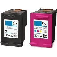 Rabatt! HP 300XL svart + Färgbläckpatron 41 ml kompatibel 2 st