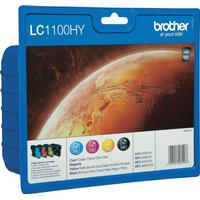 Brother LC1100HY value pack BK + C + M + Y bläckpatron 51,9ml original 4 st