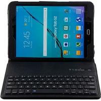 MTP Products Samsung Galaxy Tab S2 9.7 T810, T815 Bluetooth Tangentbord & Folio Väska - Svart