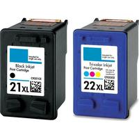 HP 21XL svart + 22XL färgbläckpatron 36 ml kompatibel