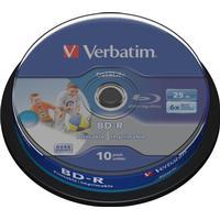 Verbatim BD-R 25GB 6x Spindle 10-Pack Inkjet