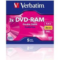 Verbatim DVD-RAM 9.4GB 3x Jewelcase 5-Pack