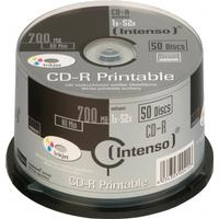 Intenso CD-R 700MB 52x Spindle 50-Pack Inkjet