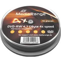 MediaRange DVD-RW 4.7GB 4x Spindle 10-Pack