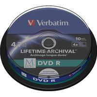 Verbatim DVD-R 4.7GB 4x Spindle 10-Pack Inkjet