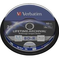 Verbatim BD-R 25GB 4x Spindle 10-Pack Inkjet