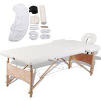 vidaXL Vikbart massagebord 2 zoner 271512