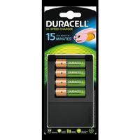 Duracell batteriladdare, incl.4xAA 1300mAh 1,2V batterier, svart