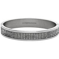 Dyrberg Kern Heli Armband Blankt Silver/Kristall