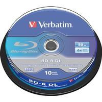 Verbatim BD-R 50GB 6x Spindle 10-Pack