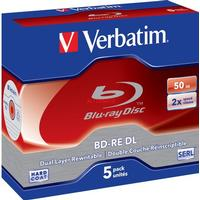 Verbatim BD-RE 50GB 2x Jewelcase 5-Pack