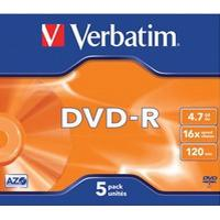 Verbatim DVD-R 4.7GB 16x Jewelcase 5-Pack