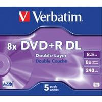 Verbatim DVD+R 8.5GB 8x Jewelcase 5-Pack