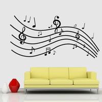 DIY Moderne Klæbende PVC Aftagelig Wallsticker - Musik - 90 x 60 cm
