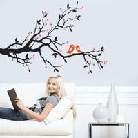 DIY Moderne Klæbende PVC Aftagelig Wallsticker - Gren - 90 x 60 cm