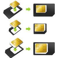Muvit Micro-Sim/Nano-Sim Adapter 3-Pack (MUMICSIMAD002)
