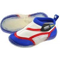 Swimpy Beach Shoes - White/Blue Size 24-25
