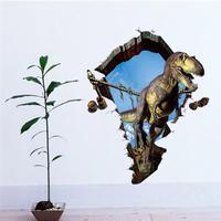 3D Hjemme Dekoration Dinosaur Aftagelig Wallsticker - 60 x 90 cm