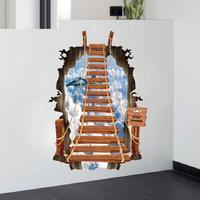3D Kreativ Mur Effekt med Trappe - 60 x 90 cm
