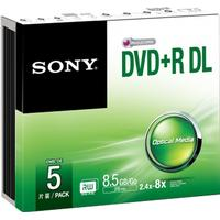 Sony DVD+R 8.5 GB 8x Slimcase 5-Pack
