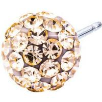 Blomdahl Caring Jewellery Natural Titanium Earrings w. Golden Rose Crystal  Ball - 0.6cm 252acc8b518ad