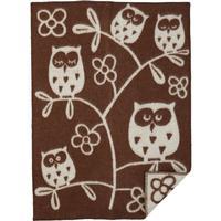 Klippan Yllefabrik Ekologisk ullfilt Tree Owl Brun 65x90 cm