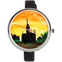 Ernest - Kunstner Ur med håndmalet urskive - Sunset Church