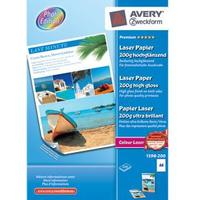 Avery - Foto papir A4 200 gram glossy laser - 200 ark