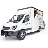 Bruder Mercedes Benz Sprinter Hestetransport med 1 hest 02533