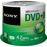 Sony DVD+R 4.7GB 16x Spindle 50-Pack