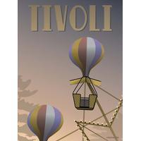 Vissevasse Tivoli Ballongyngerne 30x40cm Plakater