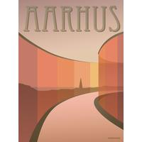 Vissevasse Aarhus Aros 30x40cm Plakater
