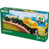 Brio lokomotiv med vogne og tømmer 33775