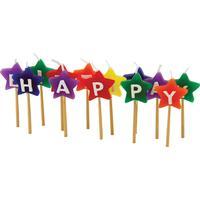 Tala Happy Birthday Star Candles (13 delar)