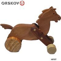 Ørskov. Retro dyr af træ. Stor Hest