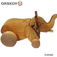 Ørskov. Retro dyr af træ. Stor Elefant