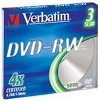 Verbatim DVD-RW 4.7GB 4x Slimcase 3-Pack