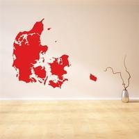 NiceWall Denmark Map 66x56cm