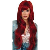 Dreamgirl-peruk, röd/brun