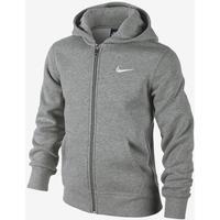 Nike Brushed Fleece Full-Zip - Dark Grey Heather / White (619069_063)