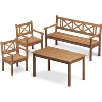 Skagerak Skagen teakgrupp - 2 stolar + 1 soffa + 1 bord
