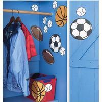 Wallsticker - Sports bolde - tennis - fodbold