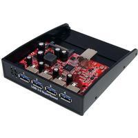 """Startech USB 3.0 frampanelshubb med 4 portar - fack på 3,5"""" eller 5,25"""""""