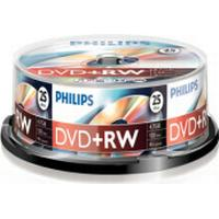 Philips DVD+RW 4.7GB 4x Spindle 25-Pack