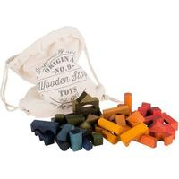Wooden Story Colored Wooden Blocks 100pcs