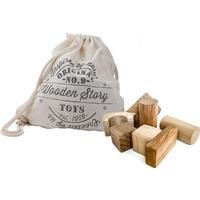 Wooden Story Ekstra Store Træklodser I Bomuldspose 50 Stk