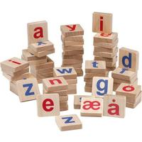 Krea Wooden Magnets Small Letters Scandinavian Alphabet